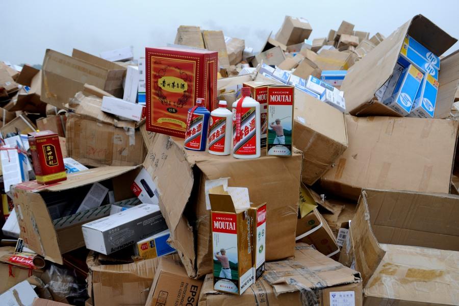 Chinesische Counterfeiter fälschen hauptsächlich einheimischeMarken